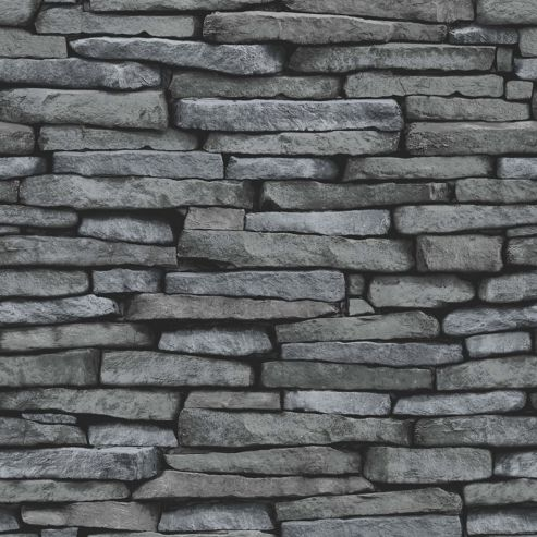 Slate Silver Wallpaper