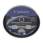 Verbatim Blu-ray Recordable Media - BD-R, 10 Pack