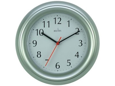 Acctim 21417 Wycombe Wall Clock Silver