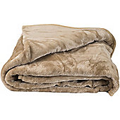 Faux Fur Tan Mink Throw Soft Warm Blanket 150 x 200cm