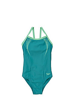 Speedo Endurance®10 Contrast Trim Swimsuit - Green