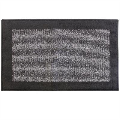 Madras Grey/Black Door Mat 40x70cm