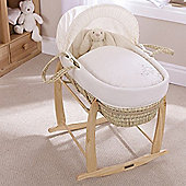 Clair de Lune Palm Moses Basket (Starburst Cream)