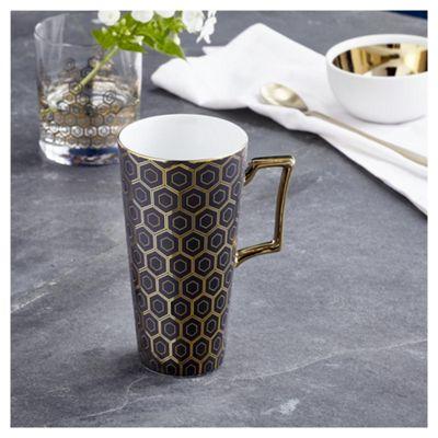 buy fox ivy soho black latte mug from our fox ivy soho. Black Bedroom Furniture Sets. Home Design Ideas