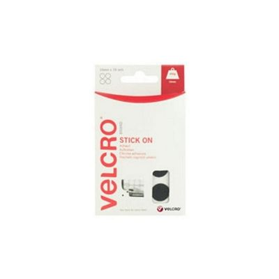 Velcro Stick On Coins 16mm Black