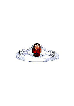QP Jewellers Diamond & Garnet Aspire Ring in 14K White Gold