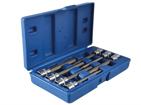 Blue Spot Tools Extra Long 3/8in Square Drive Hex Bit Sockets 7Piece