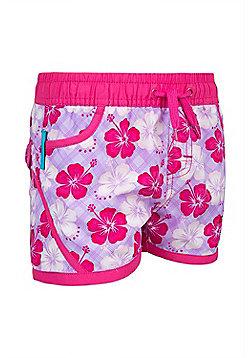 Girls Hawaiian Boardshorts - Purple