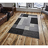 Matrix Modern Rug - Black