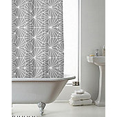 Country Club Shower Curtain Skandi Geo Grey 180 x 180cm