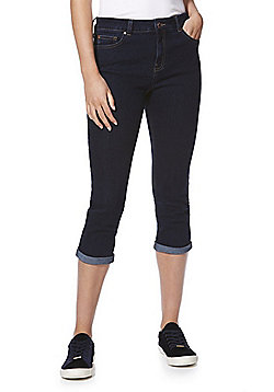 F&F Authentic Mid Rise Cropped Jeans - Indigo