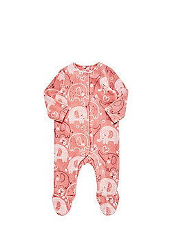 F&F Elephant Fleece All in One - Coral