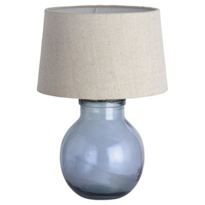 Aldeburgh recycled glass table lamp sea blue