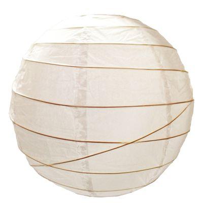 Loxton Lighting Irregular Bamboo Paper Lantern in White - 48cm