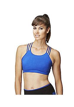 Women's Tri Strap Yoga Gym Sports Bra - Blue