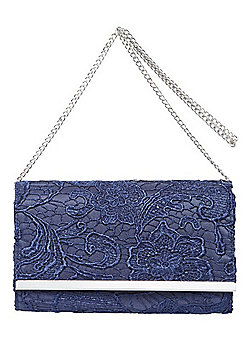 F&F Metallic Trim Lace Clutch Bag