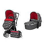 Obaby Chase with Mosquito Net Pram - Eclipse