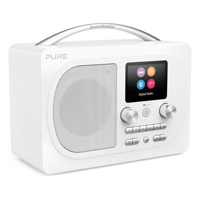 Pure-EVOKE-H4-PRES-WH Evoke Prestige Edition Bluetooth Radio with DAB/DAB+ and FM Tuners in White