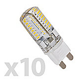 Pack of 10 Minisun Mini High Power 3W G9 LED Bulbs Cool White / Daylight