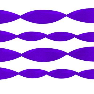Purple Crepe Streamer - 24m