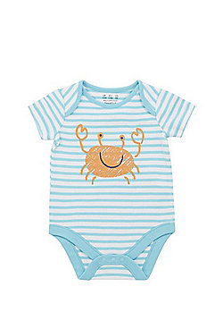 F&F Crab and Striped Short Sleeve Bodysuit - Multi