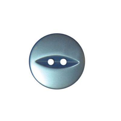 Hemline Sky Blue Fish Eye Buttons 13.75mm 8pk
