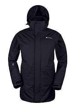 Mountain Warehouse Glacier Extreme Mens Long Waterproof Jacket - Black