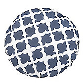 """Gardenista Arabesque Charcoal 15"""" Round Outdoor Water Resistant Scatter Cushion"""
