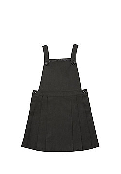 F&F School Woven Pinafore Dress - Grey