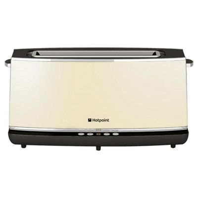 Hotpoint Extra Long & Extra Wide 2 Slice Toaster - Cream