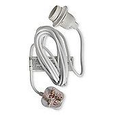 4 Metre Plug-In Lighting Flex Kit & ES E27 Lamp holder