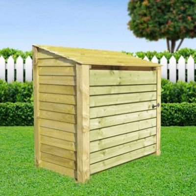 Greetham wooden log store with doors - 4ft