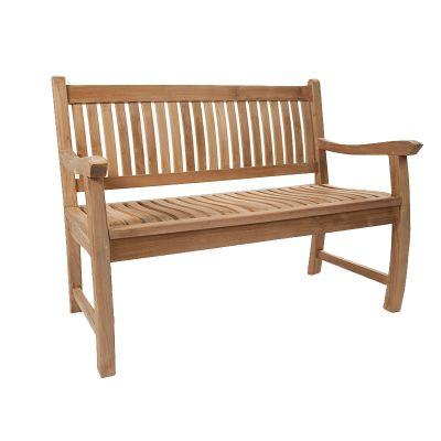 BrackenStyle Charnwood Teak Bench - 2 Seater