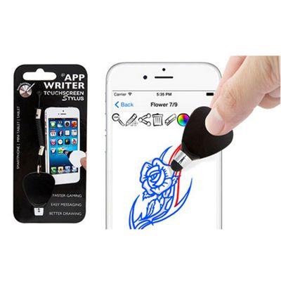 Aquarius App Writer Touchscreen Stylus with Elastic cord - Black - R140758