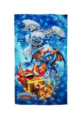 Skylanders Giants Blue Printed Beach Towel