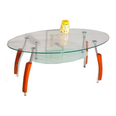 Bolivia Clear Glass Coffee Table
