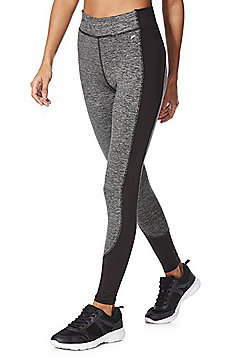 F&F Active Space Dye Panel Contour Leggings - Black