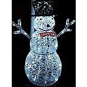 Outdoor LED Christmas Snowman Garden Lighting Decoration - 76cm