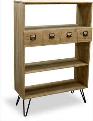 Ultimum Burden Vintage Style Bookshelf - Reclaimed Pine