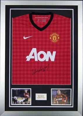 Wayne Rooney Signed 2012/13 Man Utd Shirt Jersey 1- Manchester United - Proof