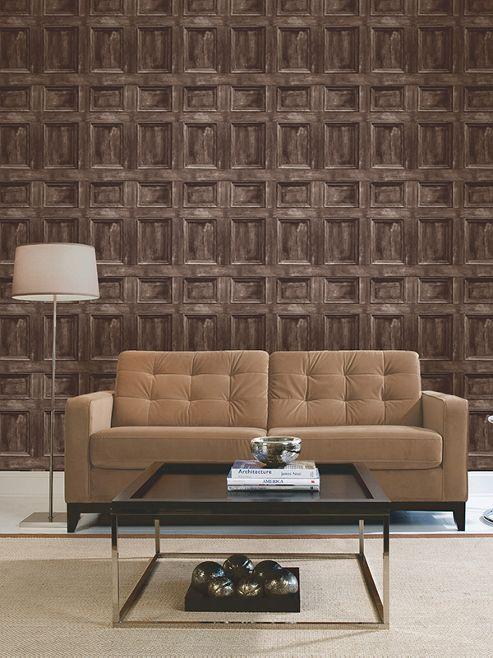 Wood Panel Chocolate Wallpaper