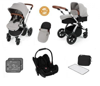 Ickle Bubba Stomp V3 All in One Travel System - Silver (Silver Chassis)