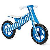 Nicko Blue Stripe Wooden Balance Bike