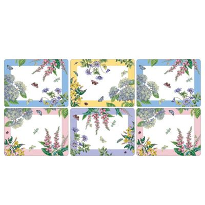 Pimpernel Botanic Garden Terrace Placemats, Set of 6
