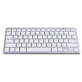 Universal Wireless Bluetooth Keyboard for iPad iOS Windows and Android - Silver & White