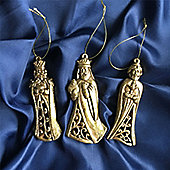 Gold Three Kings Decorations