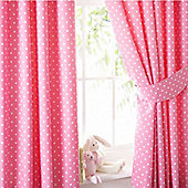 Pink Polkadot Curtains 72s