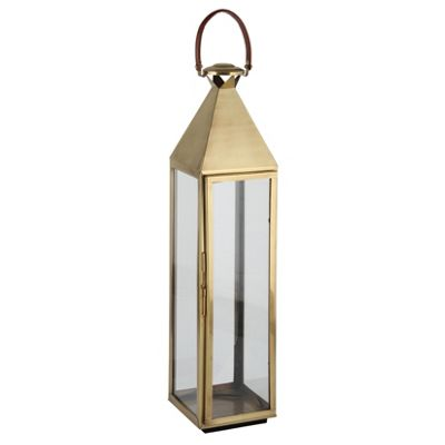 Antique Brass Stainlees Steel Square Lantern