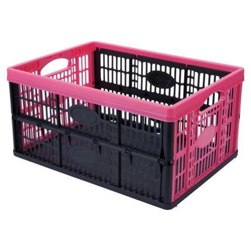 Tontarelli 32L Folding Crate Pink