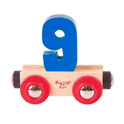 Bigjigs Rail Rail Name Number 9 (Dark Blue)